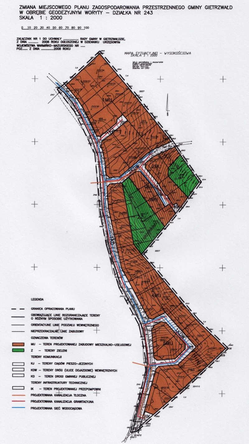 Załącznik mapowy do planu miejscowego