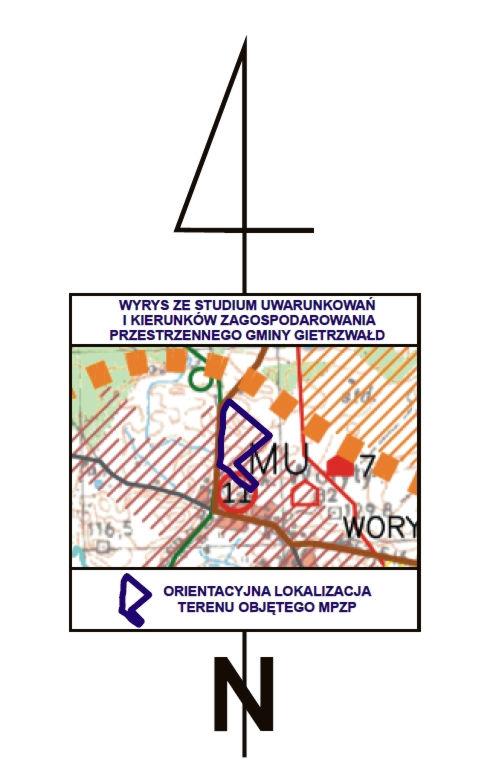 Położenie działek w Worytach